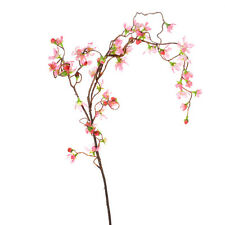 Artificial Cherry Blossom Branch Weeping 43 Inches Pink Spring Flowers