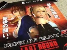 Rare japanese shop poster dead or alive 5 Ps3 Ps4 xbox one japon jeu vidéo