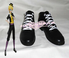Vocaloid IA Project Kagamine Len Black Halloween Cosplay Shoes H016