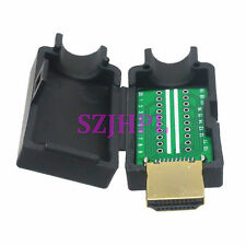 Connector HDMI male 19-20pin solder PCB Terminal breakout 3D 1080P Plastic Cover