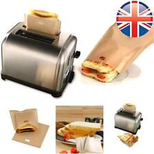*UK Seller* EXTRA LARGE 4 X Reusable Toastabags Sandwich Toast Bags Toaster