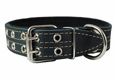 "Genuine Leather Dog Collar, Padded, 1.5"" Wide. Fits 18""-22"" Neck , Doberman"