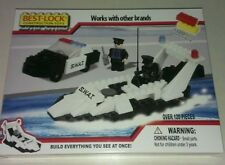 14127 Best-Lock Construction Toys: Construction SWAT Speed Boat, Car & 2 Figures