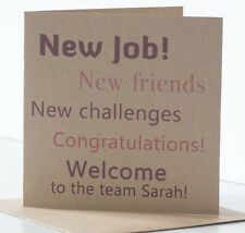 Personalised Welcome to the Team New Job Card. A card to welcome new colleague.