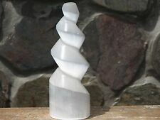1 x Polished Selenite Crystal Tower, Display Piece - Omni New Age