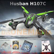 DRONE Quadricottero RC HUBSAN H107C VIDEO X4 CAMERA 2 batt+pile