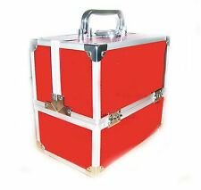 Locking Cosmetic Beauty Vanity Case Make up Box Nail Art Salon  Sparkling Red