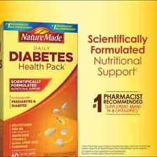 Nature Made® Diabetes Health Pack, 60 Packets Multi Vitamins & Supplement  -NEW-