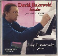 David Rakowski - Amy Dissanayake: Etudes from Books II - IV (Bridge) Like New
