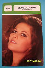Italian actress Claudia Cardinale Period 1967-78 biographical French Trade Card