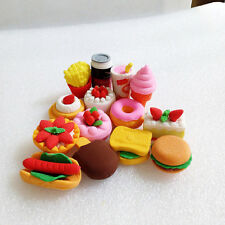 14pcs Funny Cute Food Rubber Pencil Eraser Stationery Novelty Children Party CF