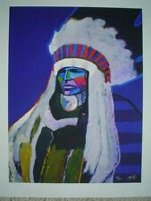 """JOHN NIETO - """"Chief Rain In The Face"""" - Pencil Signed & Numbered - With COA"""