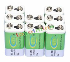 8 x Ni-MH 300mAh 9V Rechargeable PP3 Battery NEW