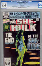 Savage She-Hulk #25 CGC 9.4:  Rare Last Issue Comic in 1980 Terry Austin Cover