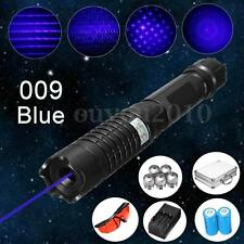 Profession 5mW Blue Beam Laser Pen Head + Case + Battery + Charger + Goggles