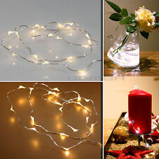 40 LEDs Lichterkette Kupferdraht Weihnachten Beleuchtung Licht Weiß Parteidekor