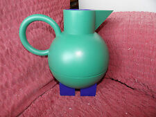 ALESSI MG12 EUCLID JUG WITH VACUUM GLASS BY MICHAEL GRAVES 1990'S FABULOUS COND