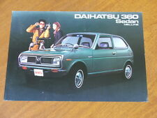 c1970 Daihatsu 360 Sedan Deluxe original double sided single page brochure