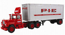 P.I.E. MACK R WITH 28' PUP TRAILER FIRST GEAR 1ST 1/64 60-0266