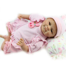 "17""Realistic Reborn Baby Doll Lovely Newborn Baby Doll Soft Silicone Handmade"
