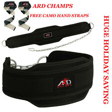 GYM BACK PULL UP CHAIN DIPPING BODY BUILDING WORKOUT WEIGHT LIFTING BELT