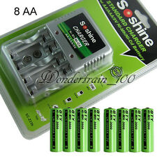 8x AA 3000mAh Ni-MH Rechargeable Batteries R6 LR6 1.2V BTYG+ Charger