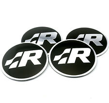 4PC X SR R LINE Car Wheel Centre Hub Emblem Sticker fit VW Polo Golf Badge Decal