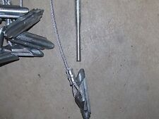 "12 Duckbill earth anchor 1/8""Cable Stakes18'' & 1 duckbill stake driver"