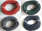3/5/10M Real Genuine 2mm Round Leather Cord String Lace Thong Jewellery Making