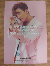 ZHOUMI (SUPER JUNIOR M) - WHAT'S YOUR NUMBER? [ORIGINAL POSTER] K-POP *NEW*