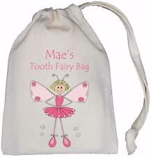 PERSONALISED - GIRL TOOTH FAIRY - TINY DRAWSTRING BAG