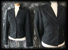 Gothic Black Fitted Detailed INFATUATION Victorian Riding Jacket 10 12 Vintage