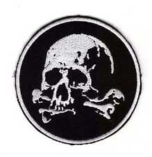 Tactical Army Morale Biker Patch Pirate Skull & Crossbones Skeleton Hook & Loop