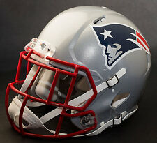 ***CUSTOM*** NEW ENGLAND PATRIOTS NFL Riddell Full Size SPEED Football Helmet