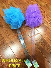 "x2 NEW 16"" Long Handle Bath Brush Soft Mesh Sponge Back Scrubber WHOLESALE"