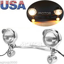 Driving Passing Turn Signals Angel Eye LED Spot Light Bar for Harley Cruisers