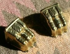 DUNCAN PHYFE Brass Claw Feet End Caps Paws? Toes? New reproduction