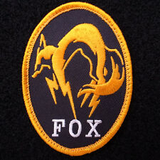 METAL GEAR SOLID : GROUND ZEROES MGS FOX UNIT Bedge Embroidered Vel-cro Patch