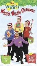 WIGGLES, THE: WIGGLY, WIGGLY CHRISTMAS (VHS-LIKE NEW) WITH 19 VERY MERRY SONGS
