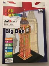 Buildream LED Lighting London England BIG BEN Tower 3D Puzzle BD-L101 Clock New