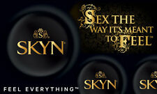 MATES Skyn Ultra Thin Non Latex Individually Foil Wrapped Condoms x72 CE Marked