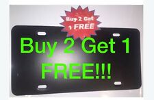 """BLANK 6""""x12"""" PLASTIC LICENSE PLATE CAR TAG BLACK DECAL STICKERS SUBLIMATION NEW!"""
