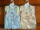 BABY BOY OUTFIT 3 PIECE SET ALL IN ONE T-SHIRT DUNGAREES HAT BNWT NEW 0-3 3-6