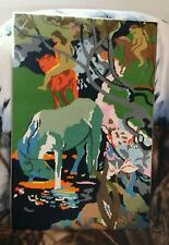 LARGE FRANCE LE CHEVAL BLANC GAUGUIN # 714228 COLBERT COMPLETED NEEDLEPOINT