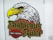 Large HARLEY DAVIDSON MOTORCYCLES BAR SHIELD EAGLE In Window Glass DECAL STICKER