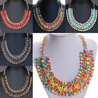Fashion Crystal Chain Collar Choker Statement Bib Charm Necklace Pendant Jewelry