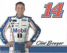 "2017 CLINT BOWYER ""MOBIL 1 STEWART HAAS FORD"" #14 MONSTER ENERGY NASCAR POSTCARD"