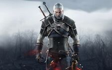 POSTER THE WITCHER 2 3 WILD HUNT WOLF LUPO GERALT OF RIVIA VIDEOGAME FANTASY #7