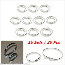 10 Sets Universal Stainless Steel Drive Shaft Axle Boot CV Joint Boot Clamps Kit
