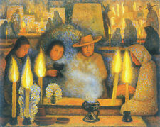Day of Dead  by Diego Rivera  Giclee Canvas Print Repro